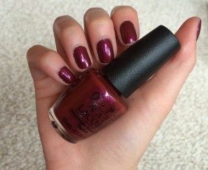 Mani Monday - OPI Thank Glogg Its Friday! from the Nordic Collection